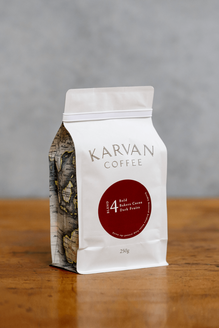 Karvan Coffee Blend #4 purchase online for the best cappuccino