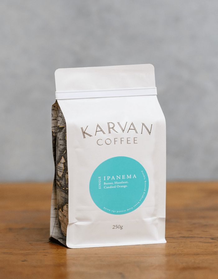 Karvan Coffee Single Estate Ipanema roasted by Leaf Bean Machine