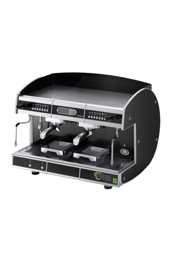 The Wega Concept two group Coffee Machine available in Matt Black or Glossy White