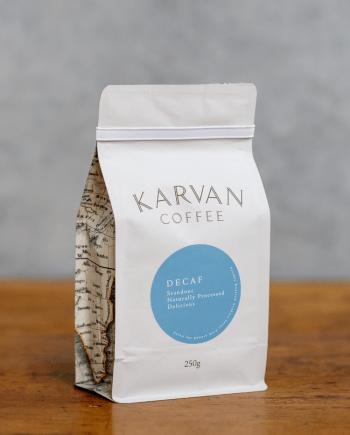 Karvan Coffee Decaf 250g roasted by Leaf Bean Machine