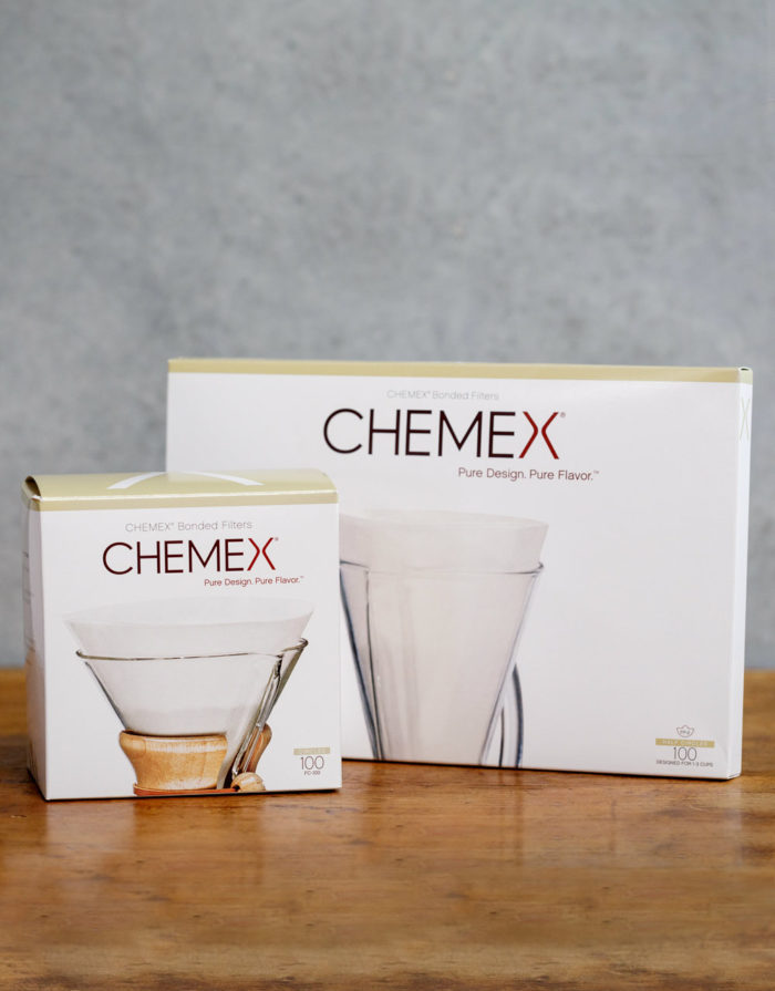 Chemex filters 6 and 3 cup available from Leaf Bean Machine