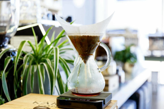 Brewing the Chemex - Leaf Bean Machine