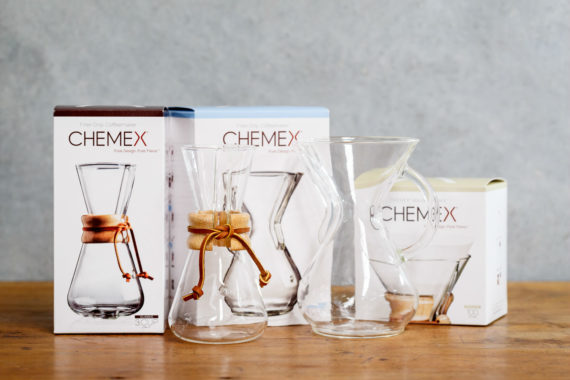 Chemex available from Leaf Bean Machine - group with box