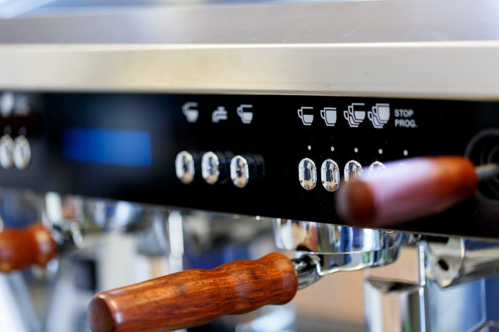 Wega Coffee MAchine with Custom Wooden Accents