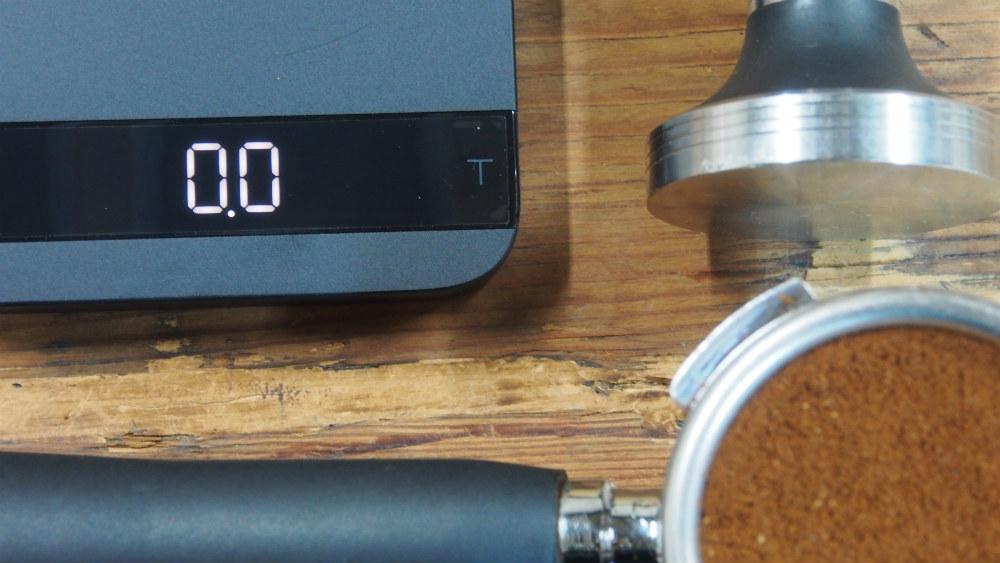 Acaia Scales Pullman Tamper and Karvan Coffee