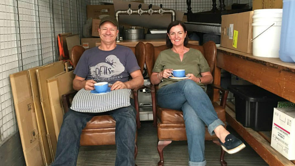 BRAD AND FLEUR -Business owners of Leaf Bean Machine