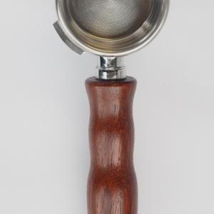 Jarrah Wood Portafilter Handle - Leaf Bean Machine