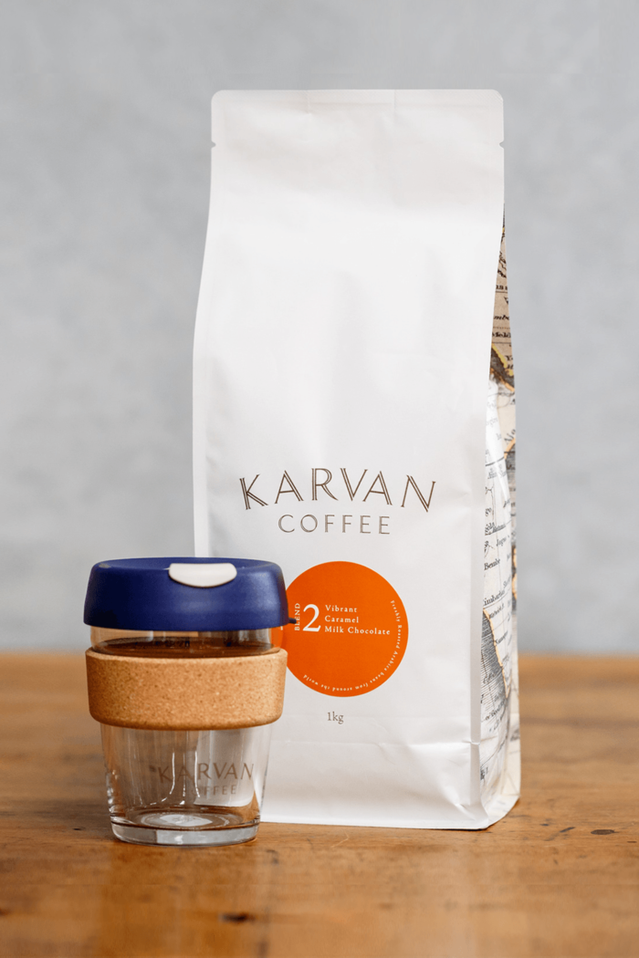 Blend #2 and a Karvan Keepcup - meet the Karvan Keepcup Bundle.