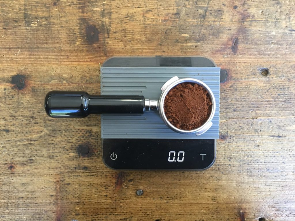 Weighing your coffee is integral to the recipe