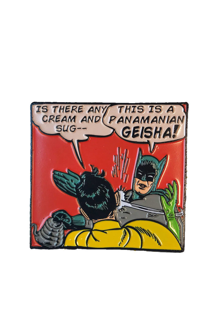 Batman Pin - Department of Brewology - Leaf Bean Machine