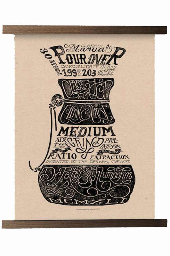 Chemex Original Series Print - Department of Brewology available from Leaf Bean Machine