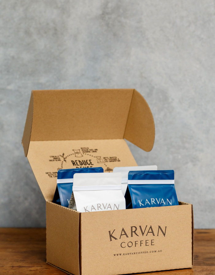 Coffee delivered to your door with a 3 month Karvan Coffee subscription
