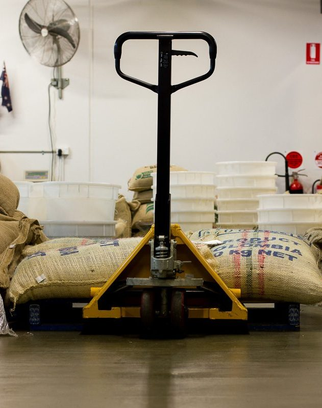 Coffee Sacks at Leaf Bean Machine