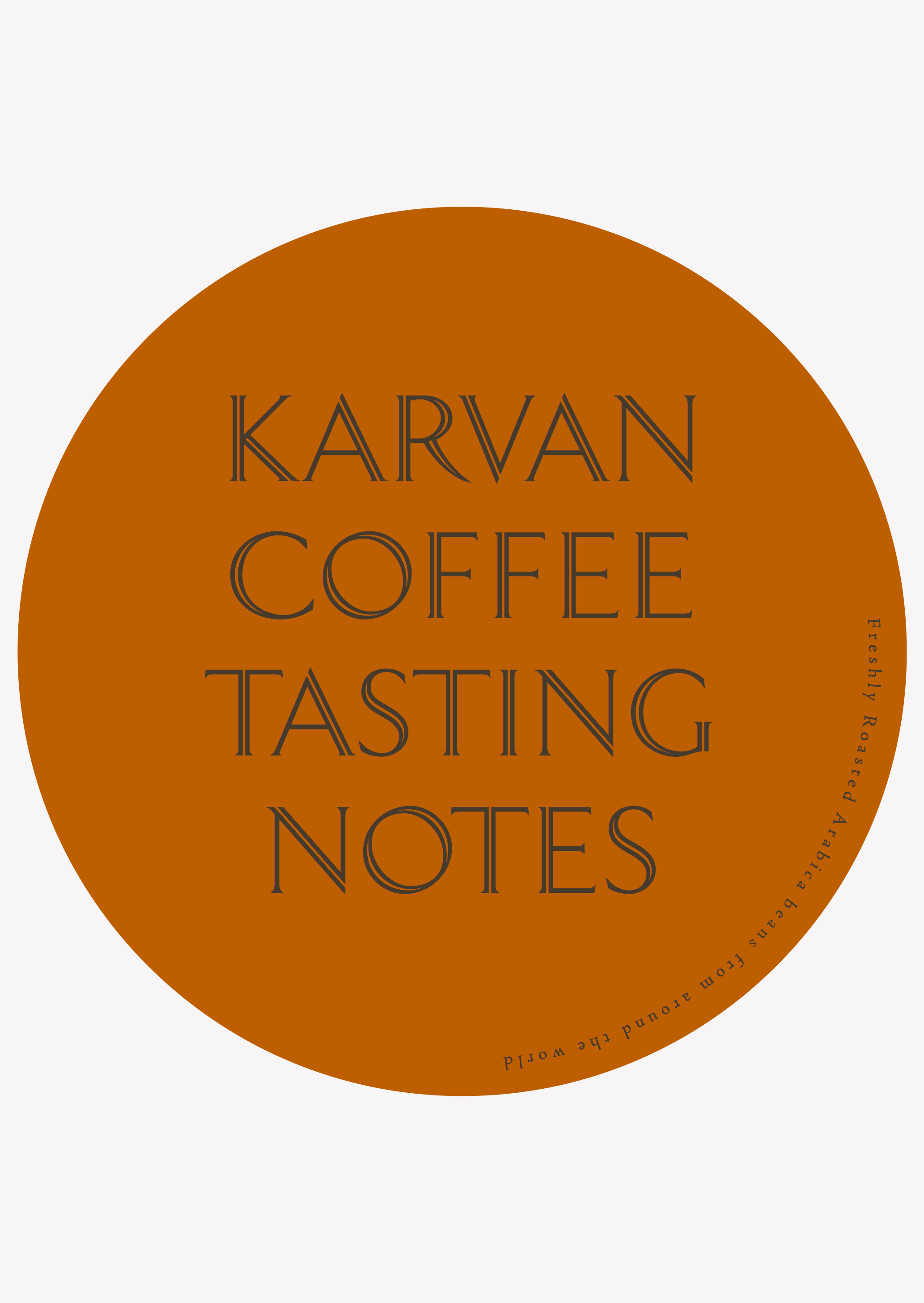 Karvan Coffee - Blend 2 - Taste Notes