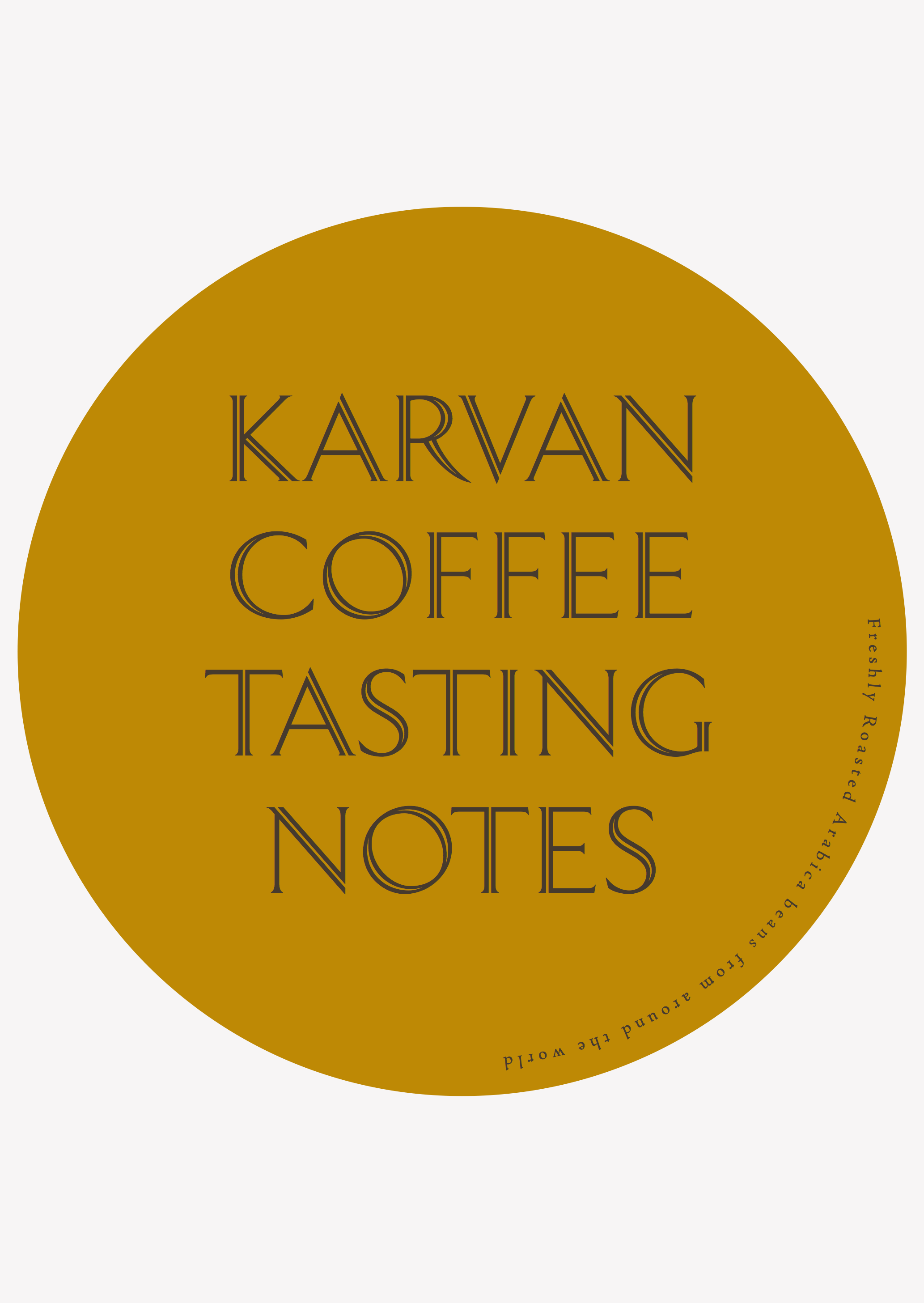 Karvan Coffee - Blend 3 - Taste Notes