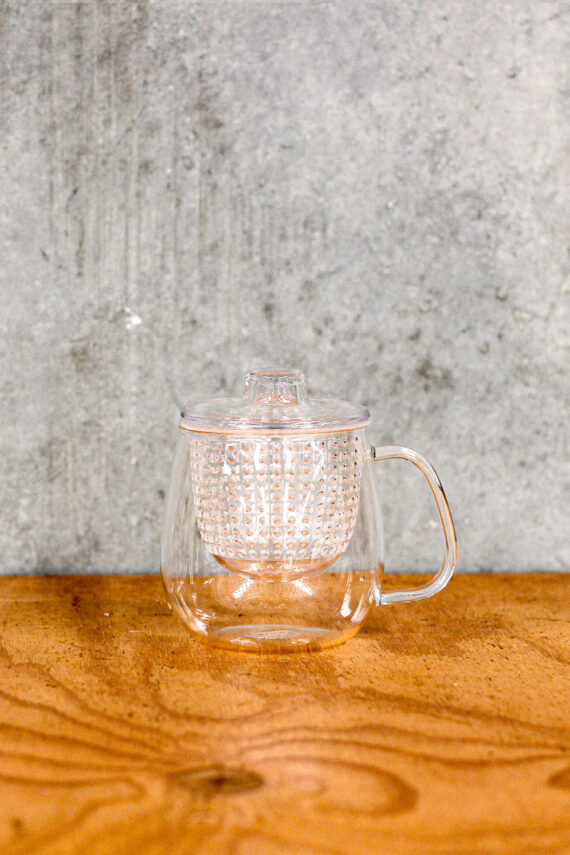 cup, strainer and lid